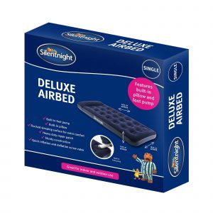 Silentnight Flock Airbed With Integrated Foot Pump