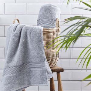Silentnight Plain Towels - Silver
