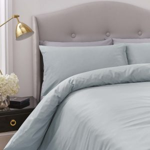 Silentnight Pure Cotton Duvet Cover Set - Duck Egg