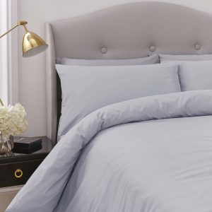 Silentnight Pure Cotton Duvet Cover Set - Silver