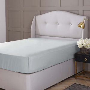 Silentnight Pure Cotton Fitted Sheet - Duck Egg