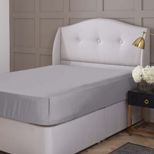 Silentnight Pure Cotton Fitted Sheet - Silver