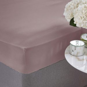 Silentnight Pure Cotton Fitted Sheet - Mauve