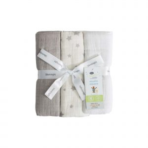 Silentnight Safe Nights Muslin Squares 3-pack Set