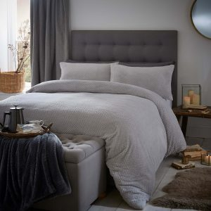 Silentnight Waffle Fleece Duvet Set - Platinum
