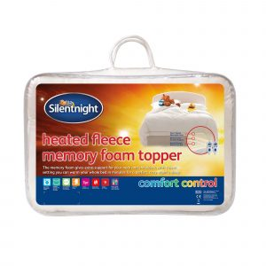 Silentnight Heated Fleece Memory Foam Mattress Topper